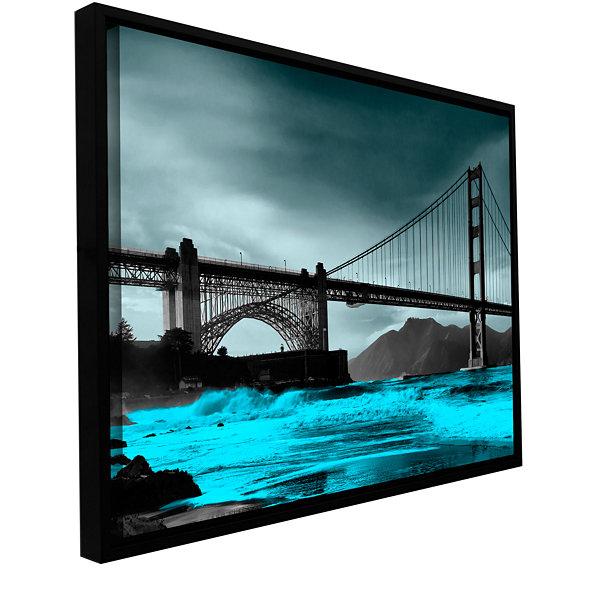 Brushstone San Francisco Bridge II Gallery WrappedFloater-Framed Canvas Wall Art