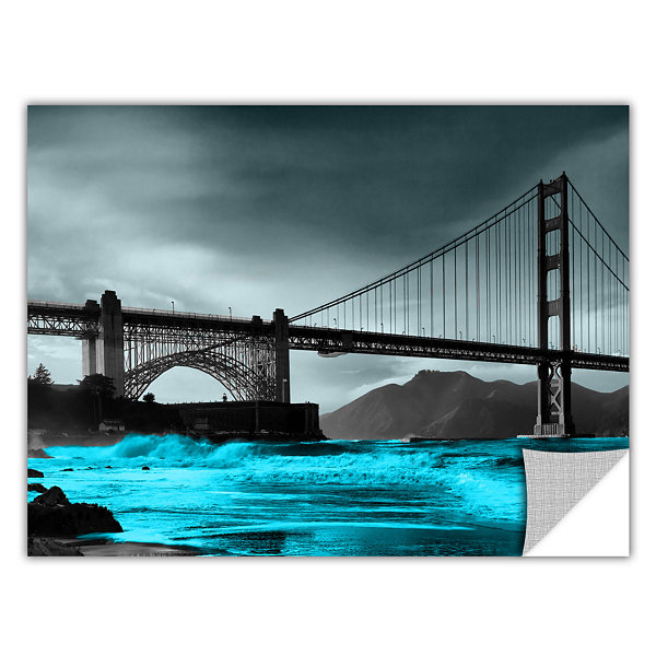Brushstone San Francisco Bridge II Removable WallDecal