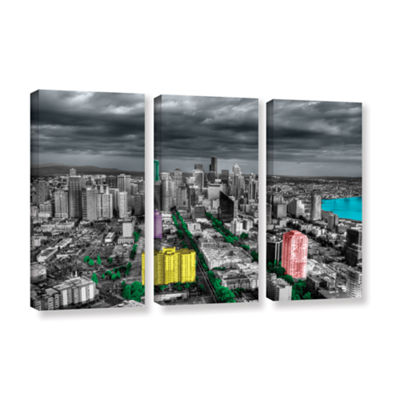 Brushstone Seattle 3-pc. Gallery Wrapped Canvas Wall Art