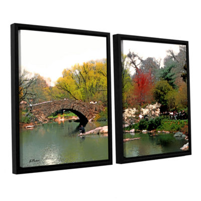Brushstone Saturday Central Park 2-pc. Floater Framed Canvas Wall Art