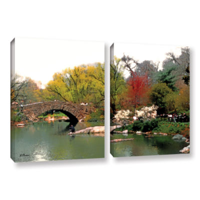 Brushstone Saturday Central Park 2-pc. Gallery Wrapped Canvas Wall Art