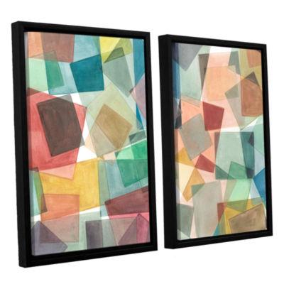 Brushstone Slideshow 2-pc. Floater Framed Canvas Wall Art