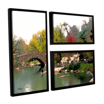 Brushstone Saturday Central Park 3-pc. Flag Floater Framed Canvas Wall Art