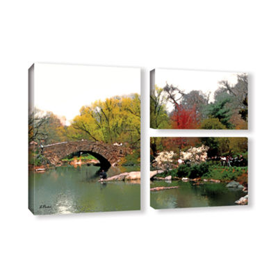 Brushstone Saturday Central Park 3-pc. Flag Gallery Wrapped Canvas Wall Art