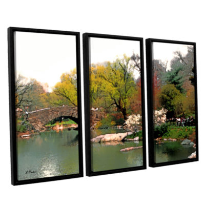Brushstone Saturday Central Park 3-pc. Floater Framed Canvas Wall Art