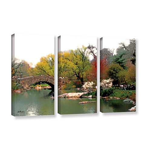 Brushstone Saturday Central Park 3-pc. Gallery Wrapped Canvas Wall Art
