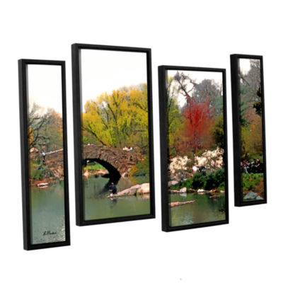 Brushstone Saturday Central Park 4-pc. Floater Framed Staggered Canvas Wall Art