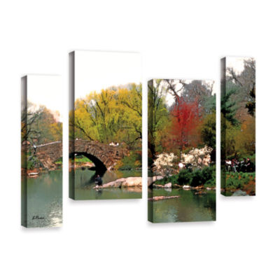 Brushstone Saturday Central Park 4-pc. Gallery Wrapped Staggered Canvas Wall Art