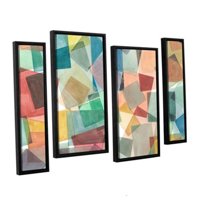 Brushstone Slideshow 4-pc. Floater Framed Staggered Canvas Wall Art
