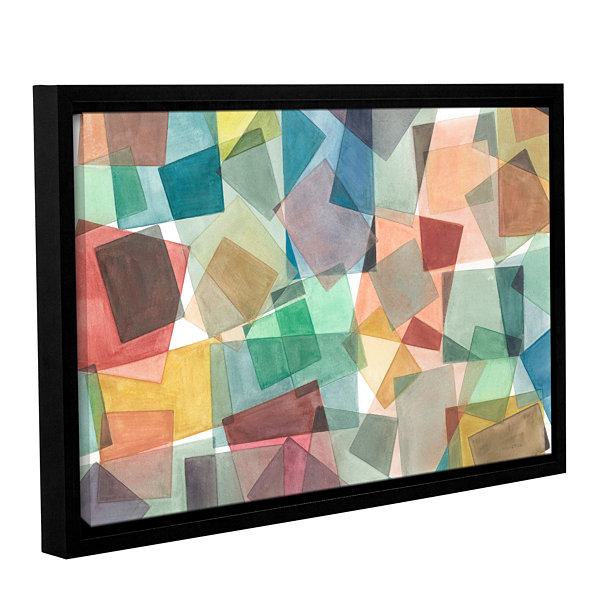 Brushstone Slideshow Gallery Wrapped Floater-Framed Canvas Wall Art