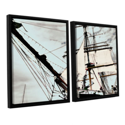 Brushstone Sailing On Star Of India I 2-pc. Floater Framed Canvas Wall Art