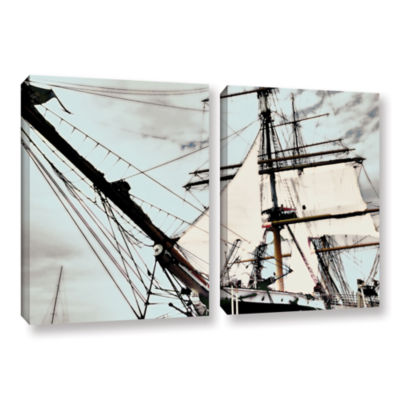 Brushstone Sailing On Star Of India I 2-pc. Gallery Wrapped Canvas Wall Art
