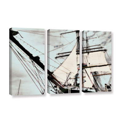 Brushstone Sailing On Star Of India I 3-pc. Gallery Wrapped Canvas Wall Art