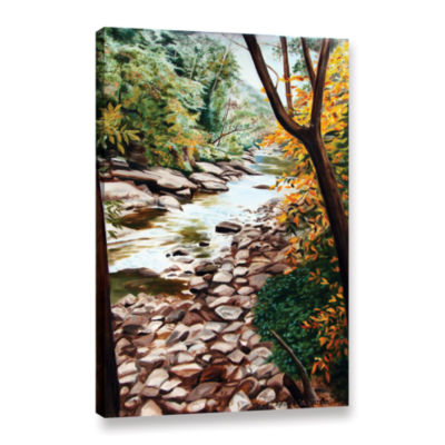 Brushstone Slippery Rock Creek Gallery Wrapped Canvas Wall Art