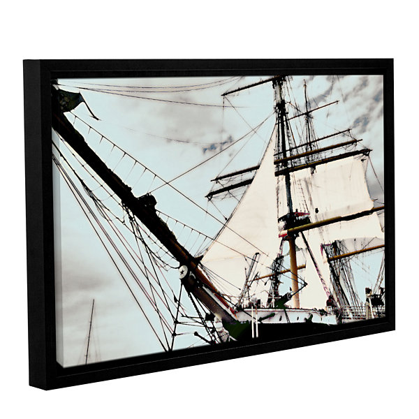 Brushstone Sailing On Star Of India I Gallery Wrapped Floater-Framed Canvas Wall Art