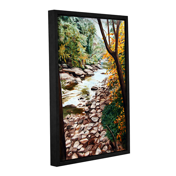 Brushstone Slippery Rock Creek Gallery Wrapped Floater-Framed Canvas Wall Art