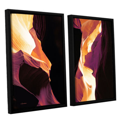 Brushstone Slot Canyon Light From Above 1 2-pc. Floater Framed Canvas Wall Art
