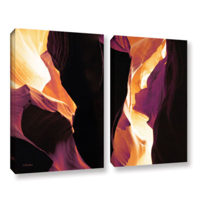 Brushstone Slot Canyon Light From Above 1 2-pc. Gallery Wrapped Canvas Wall Art