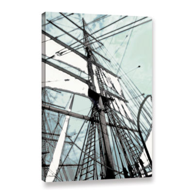 Brushstone Sailing On Star Of India II Gallery Wrapped Canvas Wall Art