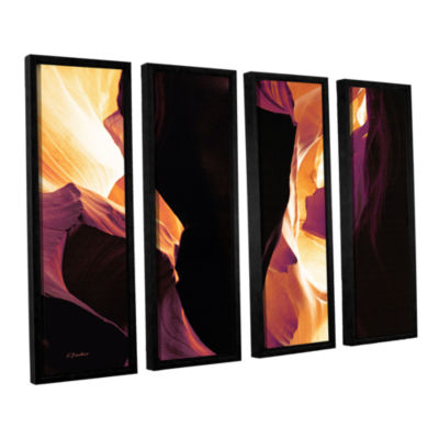 Brushstone Slot Canyon Light From Above 1 4-pc. Floater Framed Canvas Wall Art