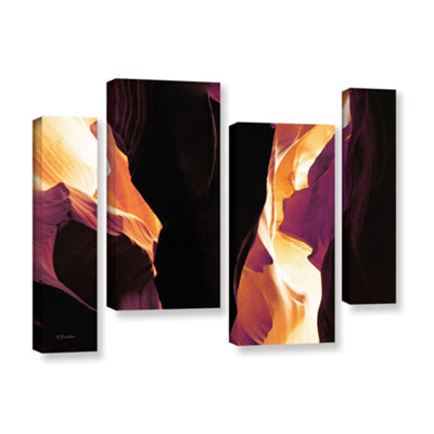 Brushstone Slot Canyon Light From Above 1 4-pc. Gallery Wrapped Staggered Canvas Wall Art