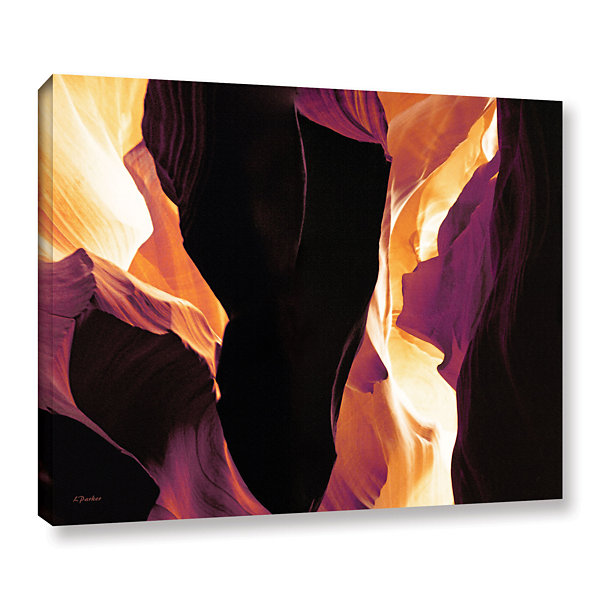 Brushstone Slot Canyon Light From Above 1 GalleryWrapped Canvas Wall Art