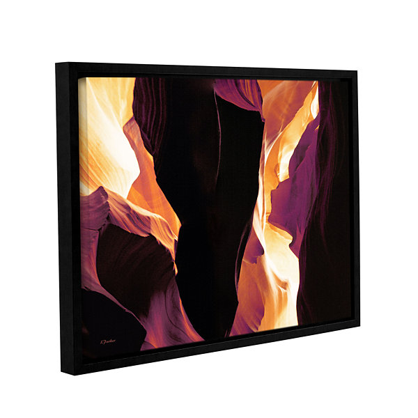 Brushstone Slot Canyon Light From Above 1 GalleryWrapped Floater-Framed Canvas Wall Art