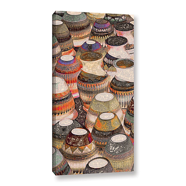 Brushstone Rustic Southwest Pots Gallery Wrapped Canvas Wall Art