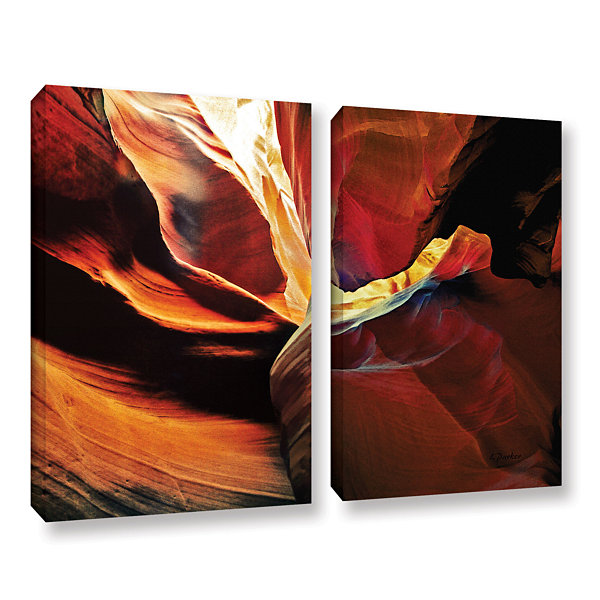Brushstone Slot Canyon Light From Above 2 2-pc. Gallery Wrapped Canvas Wall Art