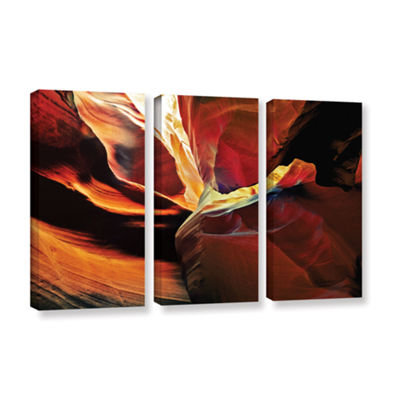 Brushstone Slot Canyon Light From Above 2 3-pc. Gallery Wrapped Canvas Wall Art