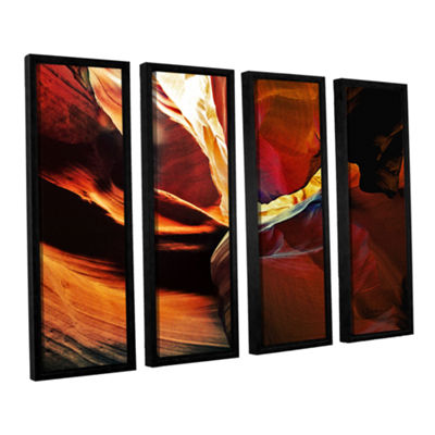 Brushstone Slot Canyon Light From Above 2 4-pc. Floater Framed Canvas Wall Art