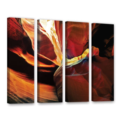 Brushstone Slot Canyon Light From Above 2 4-pc. Gallery Wrapped Canvas Wall Art