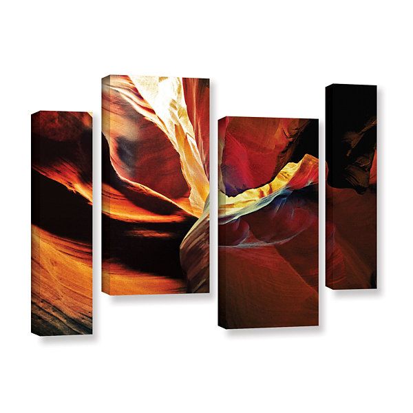 Brushstone Slot Canyon Light From Above 2 4-pc. Gallery Wrapped Staggered Canvas Wall Art