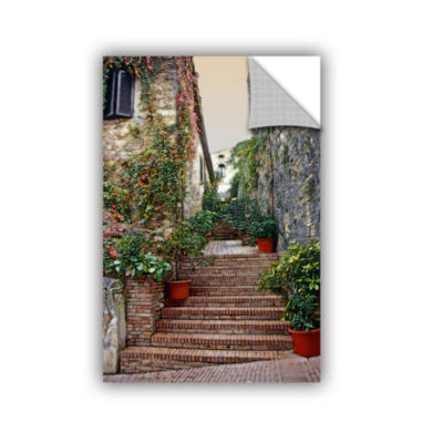 Brushstone San Gimignano - Potted Steps RemovableWall Decal