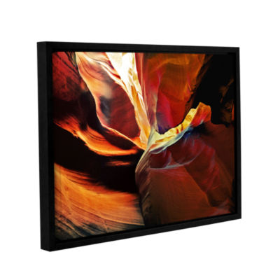 Brushstone Slot Canyon Light From Above 2 GalleryWrapped Floater-Framed Canvas Wall Art