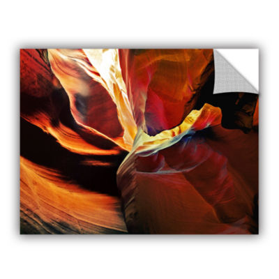 Brushstone Slot Canyon Light From Above 2 Removable Wall Decal