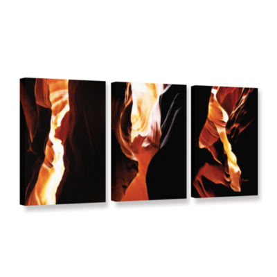 Brushstone Slot Canyon Light From Above 3 3-pc. Gallery Wrapped Canvas Wall Art