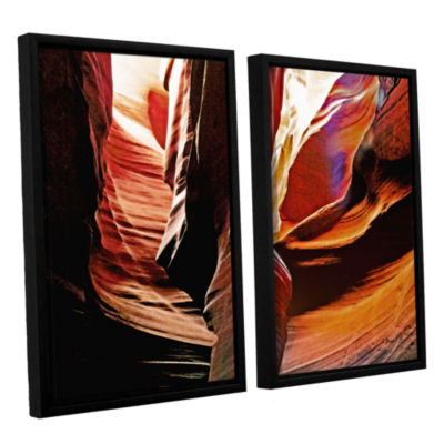 Brushstone Slot Canyon Light From Above 4 2-pc. Floater Framed Canvas Wall Art