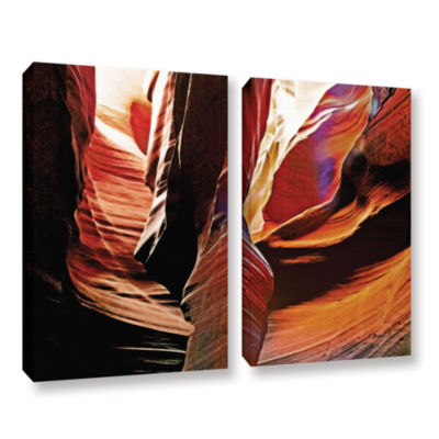 Brushstone Slot Canyon Light From Above 4 2-pc. Gallery Wrapped Canvas Wall Art
