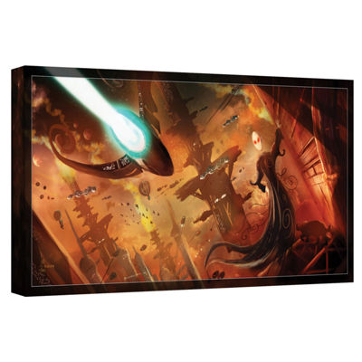 Brushstone Rust World 2014 Gallery Wrapped CanvasWall Art