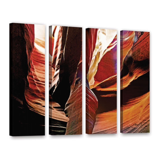 Brushstone Slot Canyon Light From Above 4 4-pc. Gallery Wrapped Canvas Wall Art