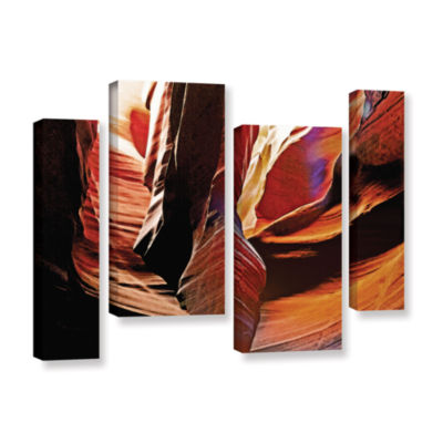 Brushstone Slot Canyon Light From Above 4 4-pc. Gallery Wrapped Staggered Canvas Wall Art