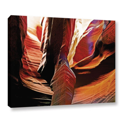 Brushstone Slot Canyon Light From Above 4 GalleryWrapped Canvas Wall Art