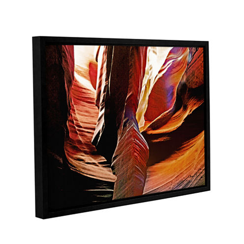 Brushstone Slot Canyon Light From Above 4 GalleryWrapped Floater-Framed Canvas Wall Art