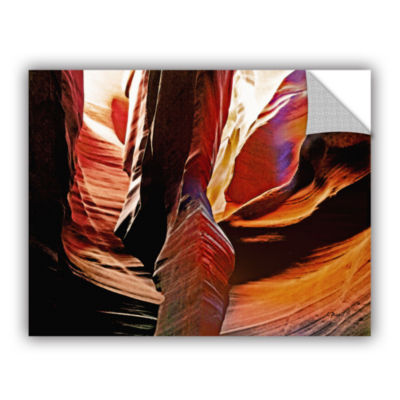 Brushstone Slot Canyon Light From Above 4 Removable Wall Decal