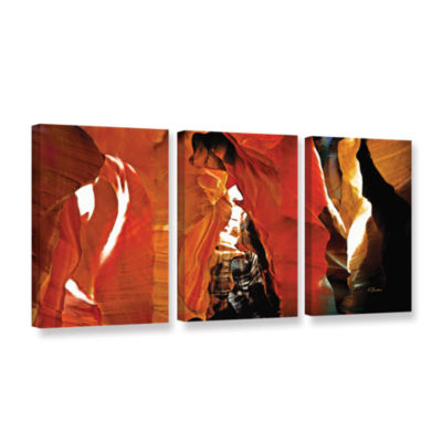 Brushstone Slot Canyon Light From Above 5 3-pc. Gallery Wrapped Canvas Wall Art