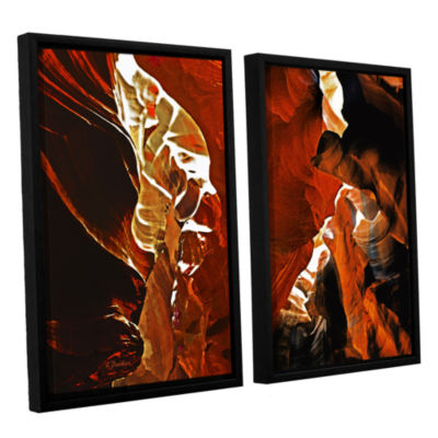 Brushstone Slot Canyon Light From Above 6 2-pc. Floater Framed Canvas Wall Art