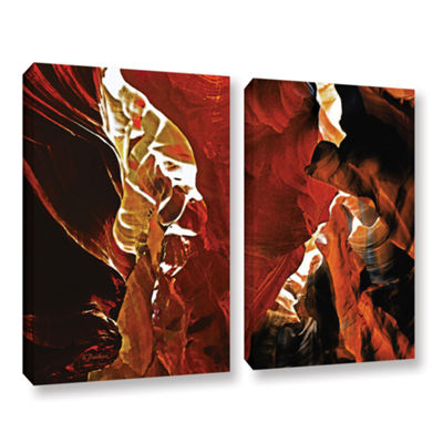 Brushstone Slot Canyon Light From Above 6 2-pc. Gallery Wrapped Canvas Wall Art