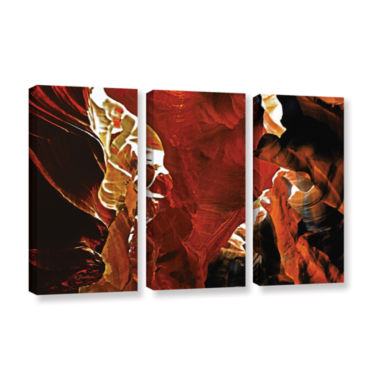 Brushstone Slot Canyon Light From Above 6 3-pc. Gallery Wrapped Canvas Wall Art