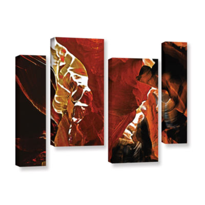 Brushstone Slot Canyon Light From Above 6 4-pc. Gallery Wrapped Staggered Canvas Wall Art